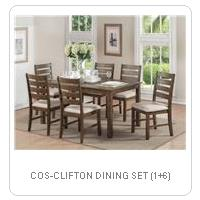 COS-CLIFTON DINING SET (1+6)